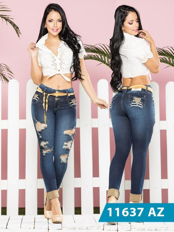 ddea378bac75f Colombian Jeans Butt Lifting Blue Azulle - Azulle Jeans